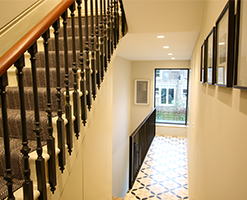 home atrium with Victorian tiled flooring